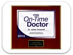 Vitals' 2014 On Time Doctor's Award - Jamie Cesaretti, MD